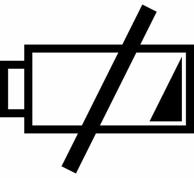 leere Batterie
